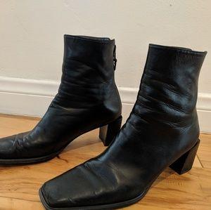 Stuart Weitzman Black Block Heel Boot